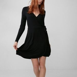 Express Long Sleeve Wrap Dress